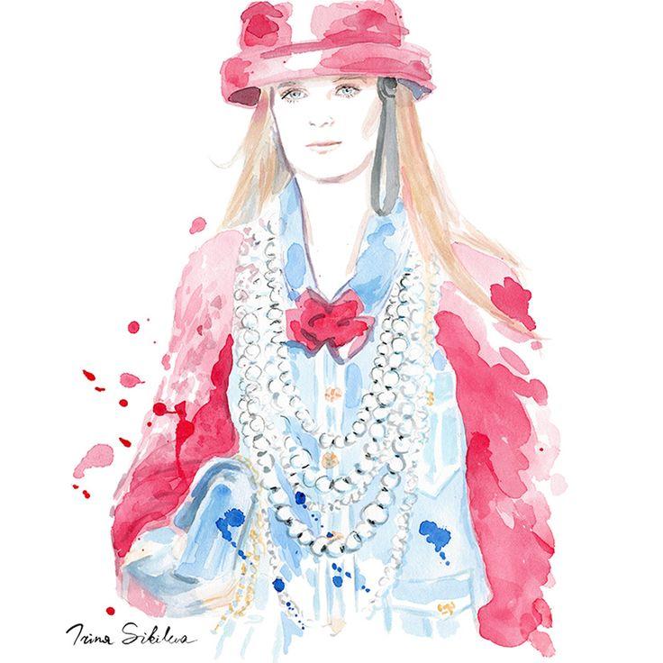 Chanel  /   Fashion illustration, by Irina Sibileva