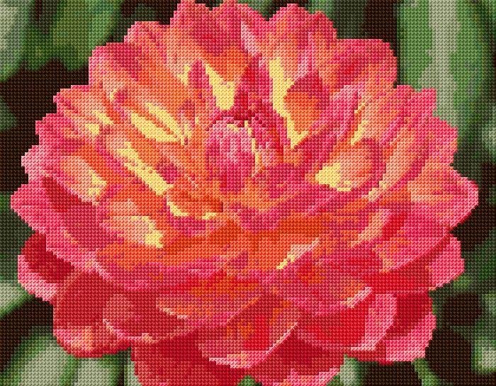 Cross Stitch   Dahlia xstitch Chart   Design