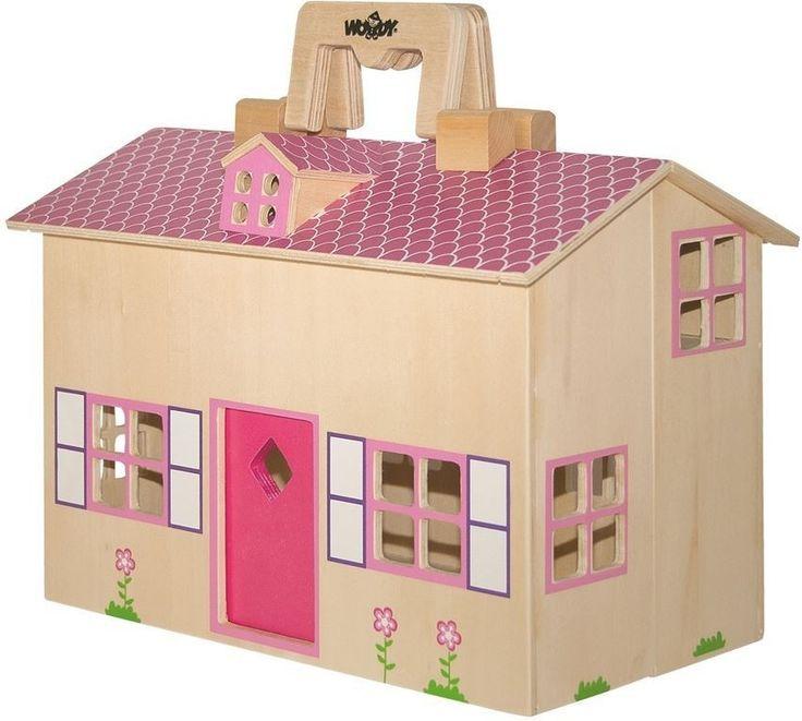 Woody Domček pre bábiky kufrík 91323 - 0