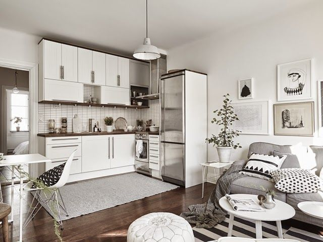 Neutral Territory. Bright DecorScandinavian ApartmentKitchen InteriorCondo  KitchenKitchen LivingLiving RoomHouse ToursApartment IdeasIkea Small  Apartment