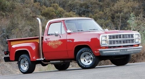 1978 Dodge Little Red Express Truck.  These were seldom seen and always attracted attention out on the street.