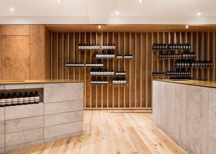 Naturehumaine Designs Interior For Aesop Store In Montreal