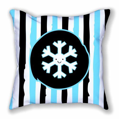 Snowflake and Stripes Pillow
