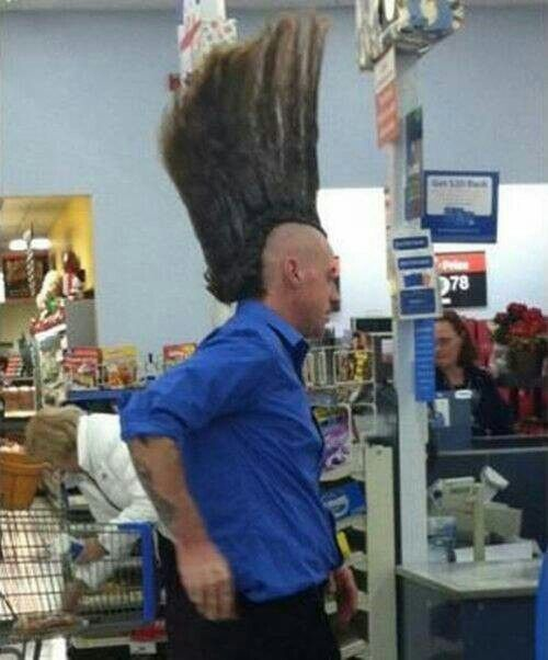 OCTOBER WINNER OF BEST HAIRDO IN WALMART...FOLLOW THIS BOARD TO SEE ALL THE CRAZIES AND WIERDO'S AT WALMART