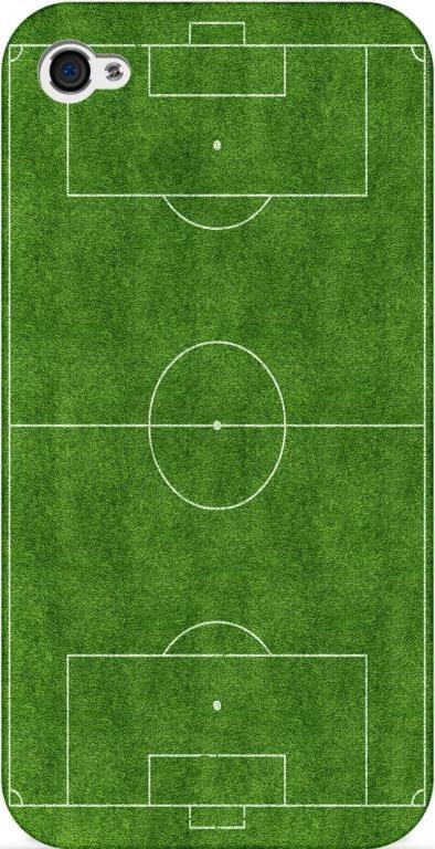 Czarne etui iPhone 4/4s 5 boisko piłka nożna sport
