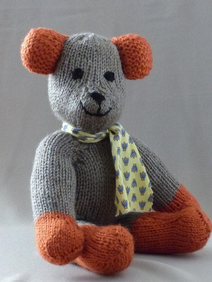 Le Nounours que j'ai tricoté pour le petit Gust