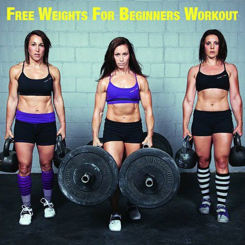 Beginner free weight workout routine- pretty solid actually.