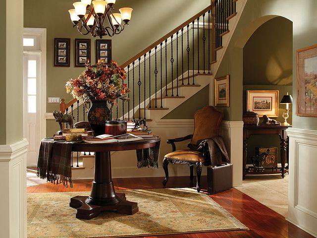 PRODUCT VIGNETTE by BEHR Paint, Sponsor of Cool Energy House - Traditional Entry - 'Belvedere Cream' Behr Paint color #770C-2