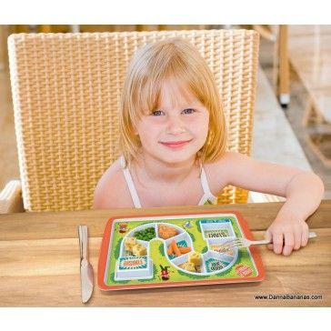 Winner winner chicken dinner:  http://www.dannabananas.com/dinner-winner-kid-s-dinner-tray/