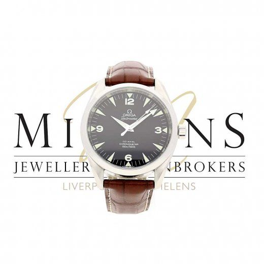 Second Hand Omega Railmaster - Black Dial - Brown Leather Strap