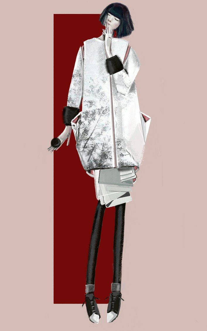 """The Rising Sun"" Sketch   Stefania Belmonte   my collection   Fashion Illustration"