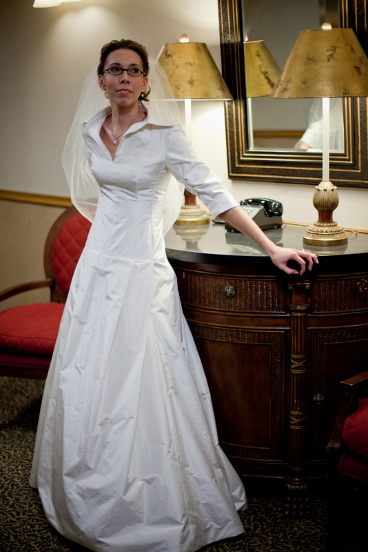 My wedding gown by Karen Hendrix based on an original Carolina Herrera 2006 design.