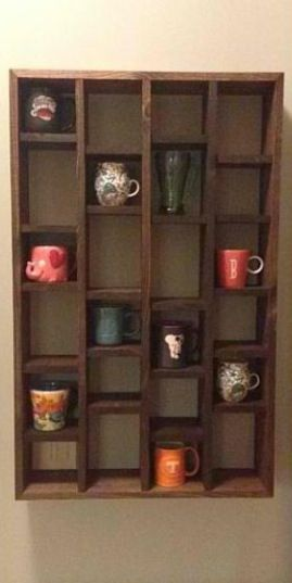 Coffee Mug Wall Shelf For Here The Heart Can Rest In 2018 Pinterest Mugs And Shelves
