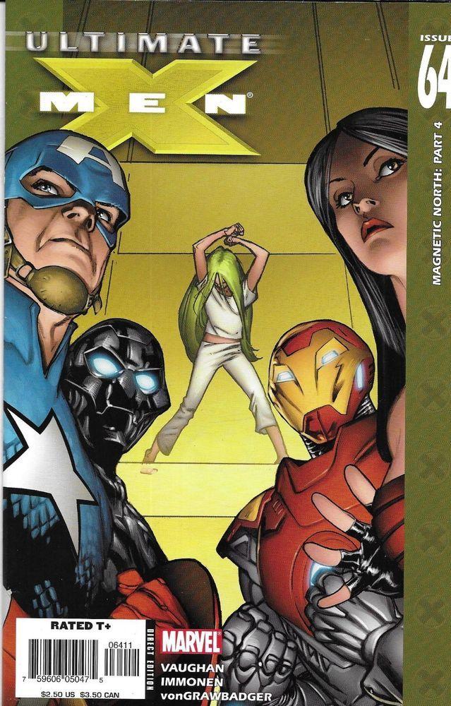 Ultimate X Men Comic Issue 64 Modern Age First Print 2005 Brian Vaughan Immonen Marvel Comic Books Comics X Men