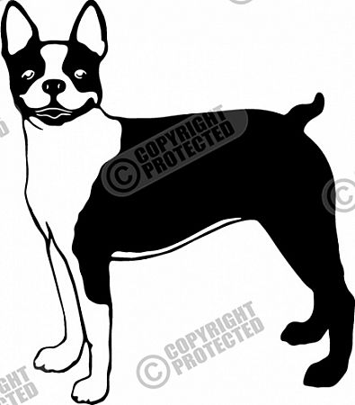 Free Sample Terrier Dog Vinyl Ready Vector Clipart Image