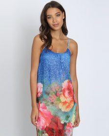 Utopia Ombre Chiffon Maxi Dress Multi