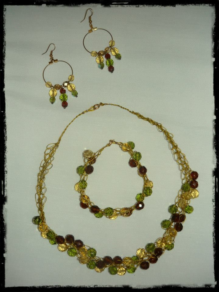 ~ Wire and Beads Necklaces and Bracelet ~