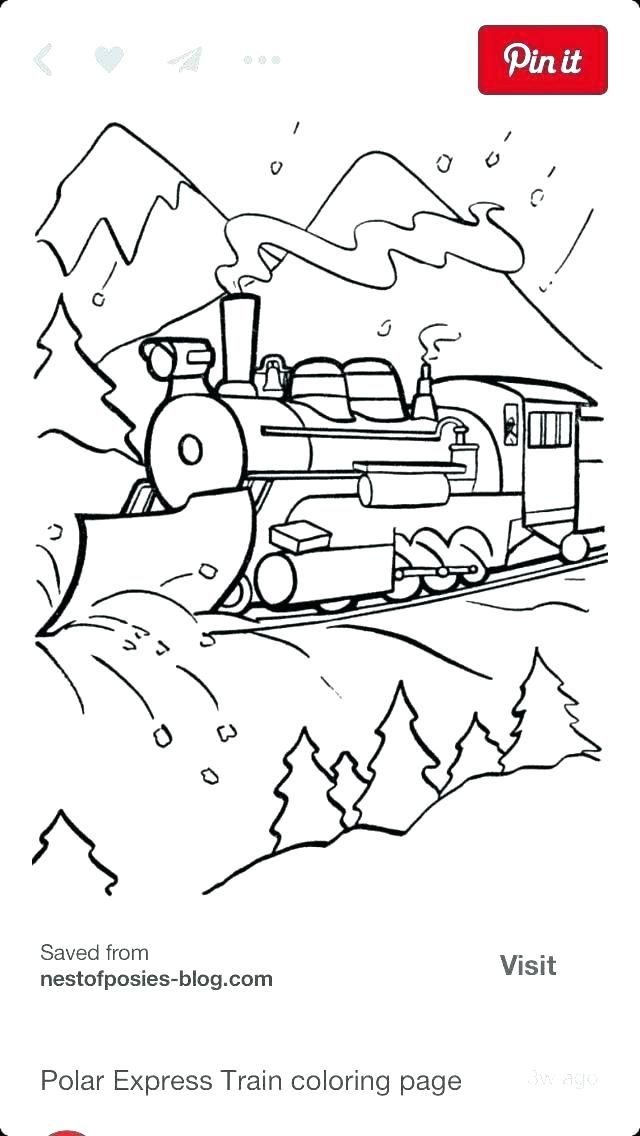 Coloring Polar Express Train Coloring Pages Train Coloring Pages Polar Express Train Polar Express