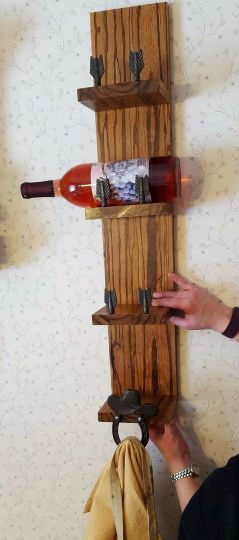 DIY Woodworking Ideas This was my first attempt at a wine rack. I got an email for Marblewood on sale...