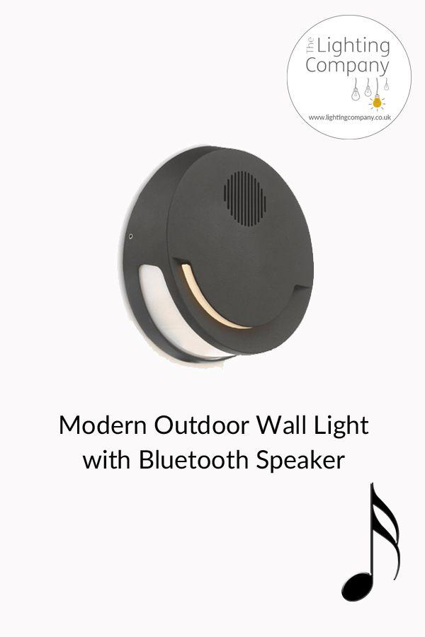 Modern Outdoor Wall Lighting, Outdoor Wall Light With Bluetooth Speaker