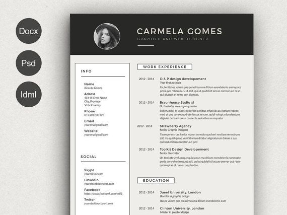 56 Best Resume Templates Images On Pinterest Resume Templates   Pages  Resume Templates  Resume Template Pages