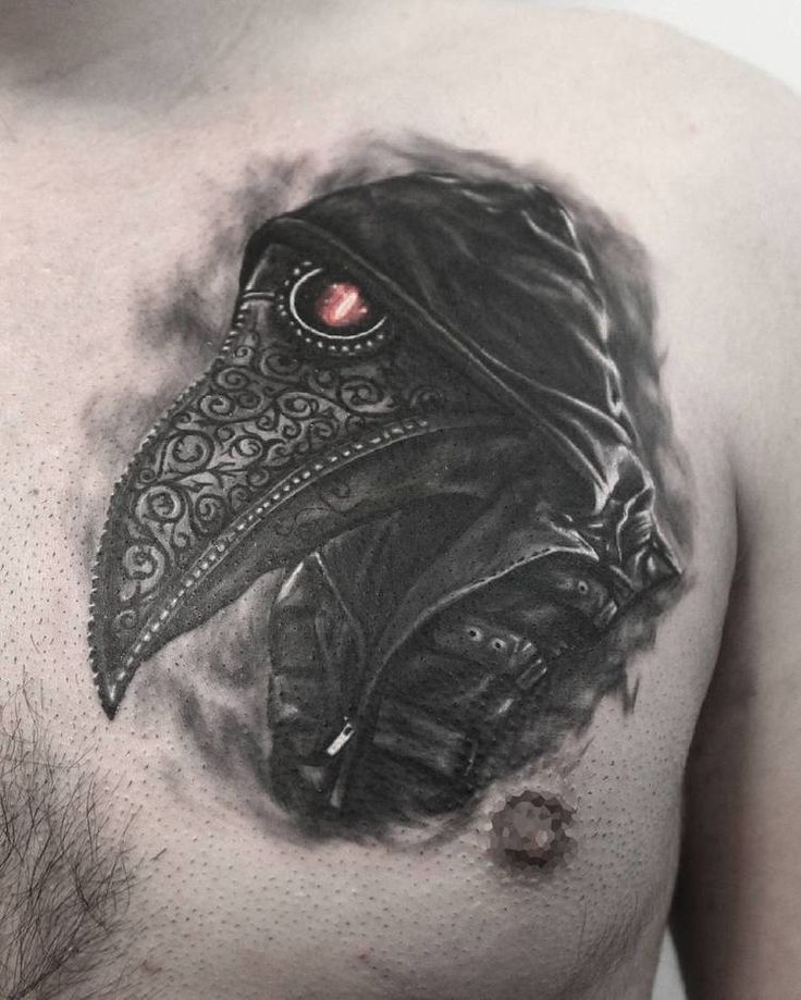Plague Doctor Tattoo by serkandemirboga