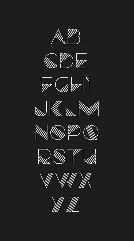 90 schöne Typografie Alphabet Designs (Teil 1) www.designlisticl … – #Alphabe