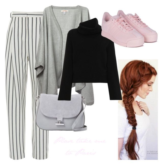 """""""Little pink"""" by viviendodesilencios on Polyvore featuring TIBI, Halston Heritage, Chloé and adidas"""