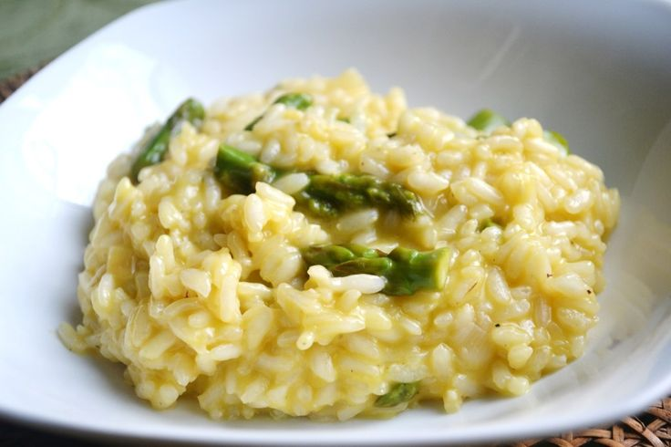 Parmesan and Asparagus Risotto is packed full of flavor. It's a wonderful side dish or could be enjoyed as a meal.