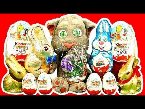 Kinder Surprise Eggs Maxi Egg Easter Bunny Chocolate Talking Tom Cat Smashing Unwrapping - http://positivelifemagazine.com/kinder-surprise-eggs-maxi-egg-easter-bunny-chocolate-talking-tom-cat-smashing-unwrapping/ http://img.youtube.com/vi/kBDu9-3goKo/0.jpg                                             See Talking Tom Cat cause Easter Egg unboxing chaos when unwrapping Kinder Surprise Maxi Egg (Looney Tunes Surprise) with Mr Hammer, Kinder Surprise …    source