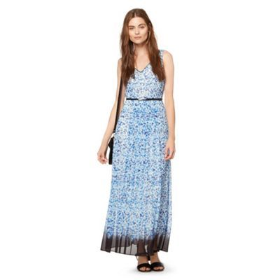 Preen/EDITION Designer blue butterfly printed maxi dress- at Debenhams.ie