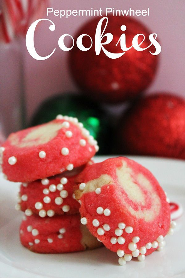 Peppermint Pinwheel Cookie Recipe~ Perfect for holiday cookie swaps!