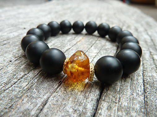 KetyS / náramek ... true baltic amber for men