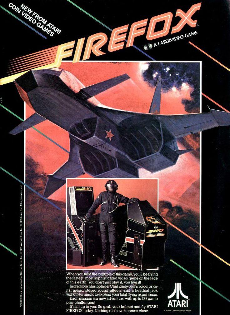 Firefox by Atari #80s #design #arcade #retrogames