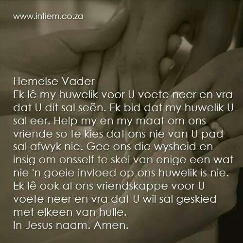Gebed vir my man
