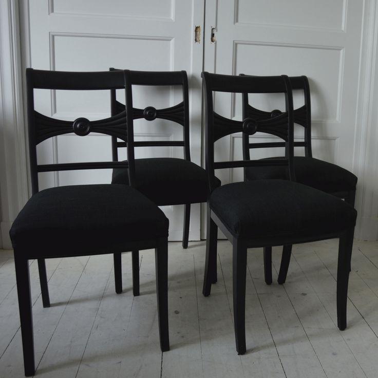 Svart Allmoge stol