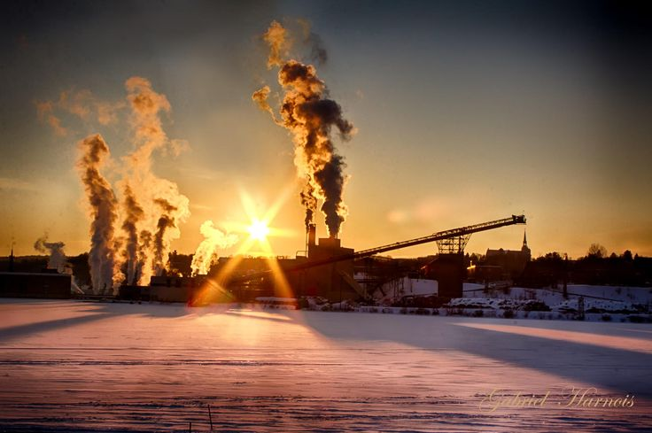 sunset and factory by Gabriel  Harnois on 500px