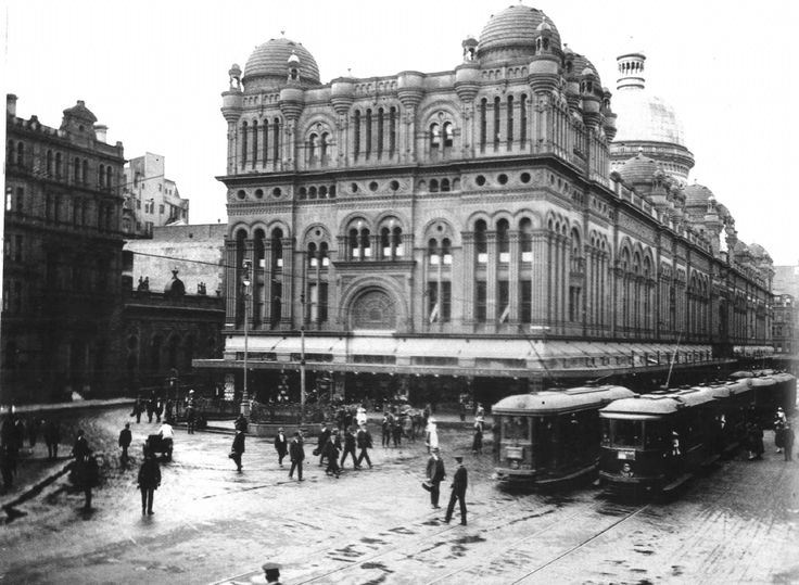 1900: The Queen Victoria Markets, along George St. #QVB #Sydney