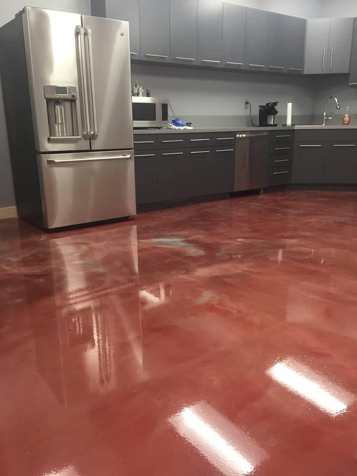 Hp Alpen Glow Metallic Epoxy Flooring System In Cherry Red And Chrome Hirshfie Alpen Cherry Chromehirshfie Epoxy Floorin In 2020 Flooring Epoxy Floor Buy Tile
