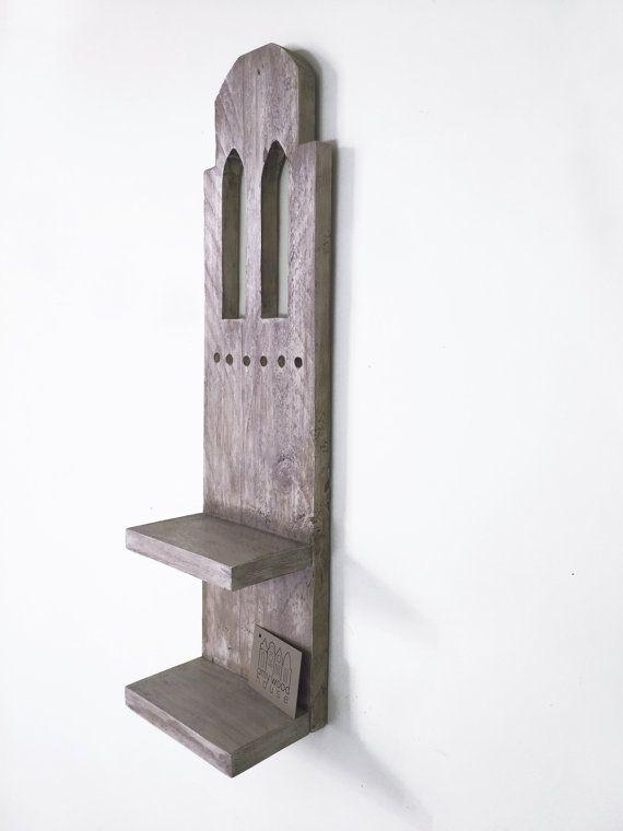 Mensola - Portaoggetti - Appendichiavi in legno riciclato, componibile da tavolo o parete • modello PARIGI  AmyWoodHouse