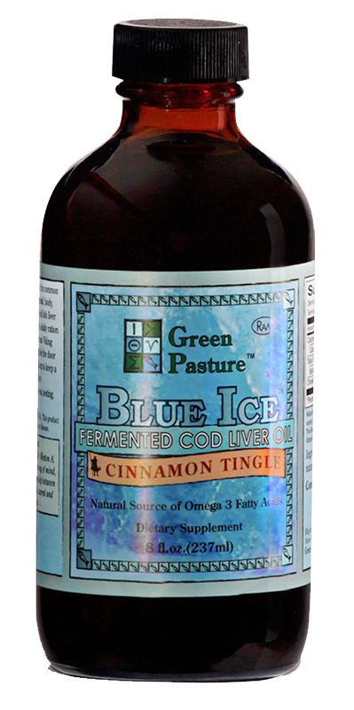 Blue ice fermented cod liver oil liquid