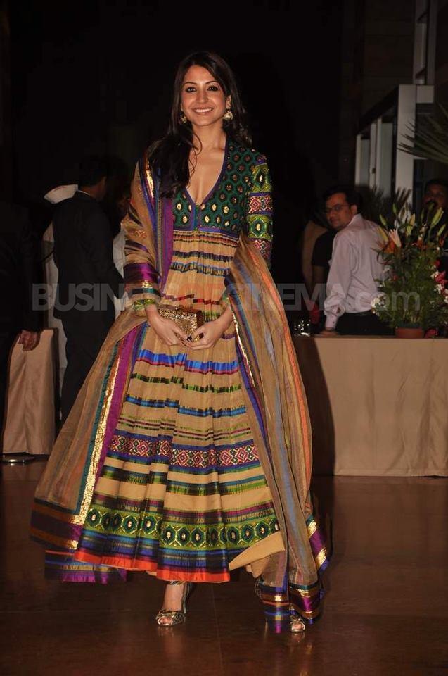 multicoloured anarkali on Anushka Sharma: Embroidery, Indian Dresses, Wedding, Indian Fashion, Desi Style