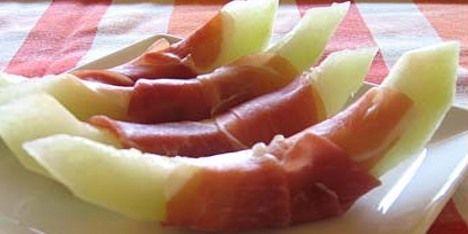 Skinke - Melon med røget skinke