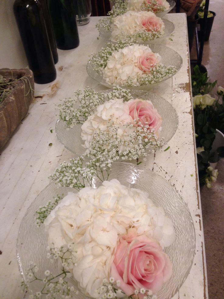 Borddekorasjoner til bryllup