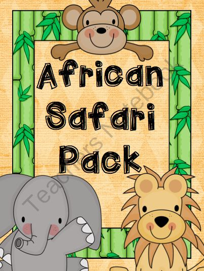 Safari Literacy and Numeracy Pack from MissLynch'sClass on TeachersNotebook.com -  (105 pages)  - Safari themed literacy and numeracy centers for Pre-K to 2nd Grade