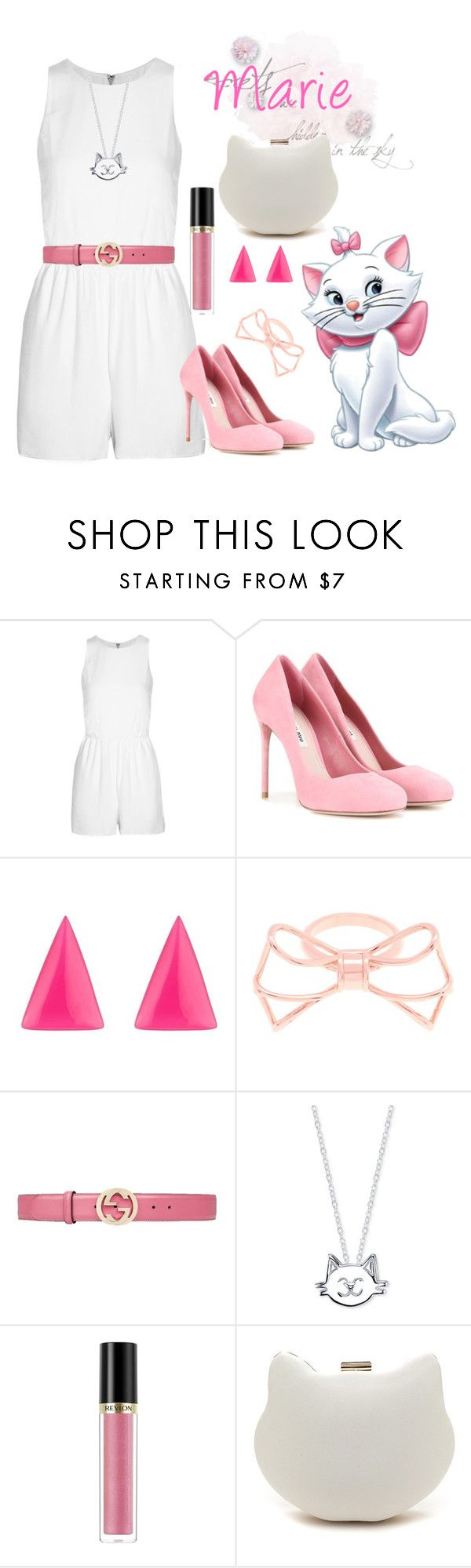 """""""Marie"""" by jmn312 ❤ liked on Polyvore featuring Alice + Olivia, Miu Miu, Alexis Bittar, Ted Baker, Gucci, Unwritten and Revlon"""