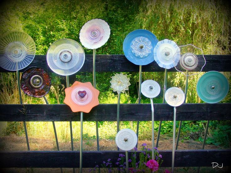 Spittin Toad: Garden Art From Up Cycled Dishes. Tutorial For Glass Garden  Flowers.