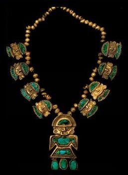 Gold necklace, Peru, ca 700-1100 A.D.