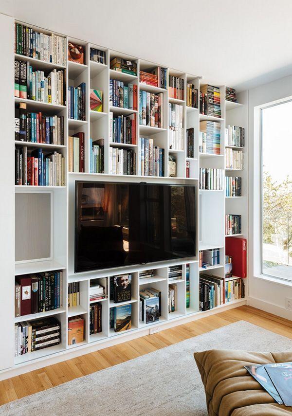 bookshelves around the tv bookshelf styling pinterest tv rh pinterest com