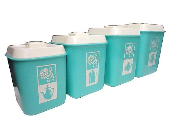 Vintage Canister Set   Rooster Kitchen Canisters RESERVED For RUTH ANN